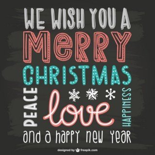 Vintage Christmas Lettering Free Vector