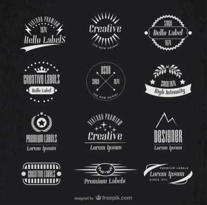 Vintage Creative Labels Free Vector