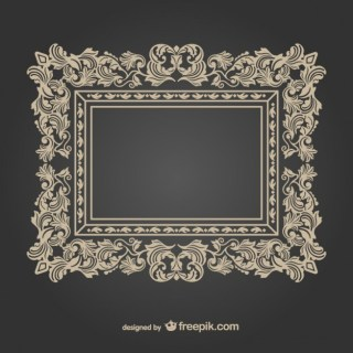 Vintage Decorative Frame Free Vector