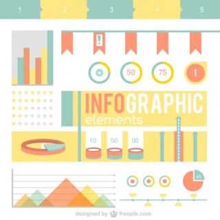 Vintage Flat Infographic Elements Free Vector