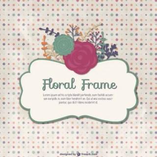 Vintage Floral Frame Template Free Vector