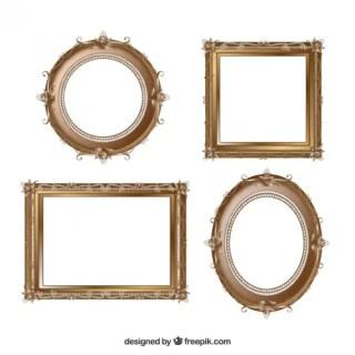 Vintage Frame Set Free Vector