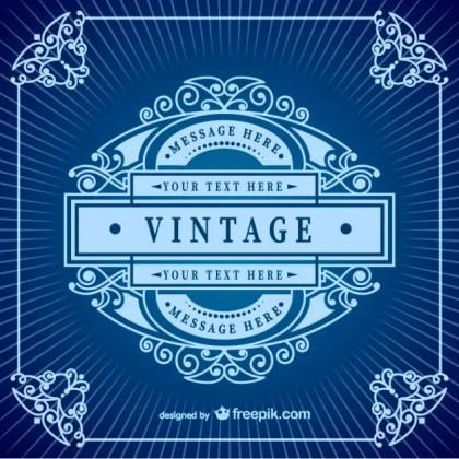 Vintage Frame Template Free Vector