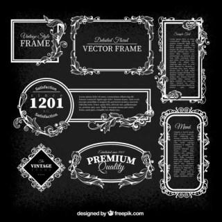 Vintage Frames Pack Free Vector