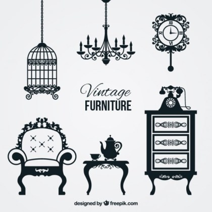 Vintage Furniture Free Vector