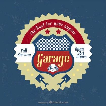 Vintage Garage Badge Free Vector