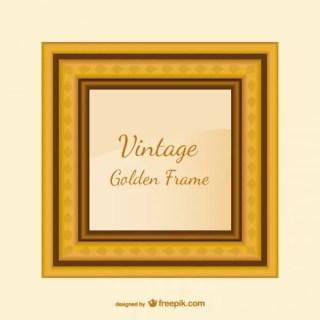 Vintage Golden Frame Free Vector