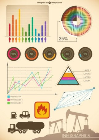 Vintage Infographic Free Vector