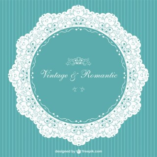 Vintage Invitation Romantic Free Vector