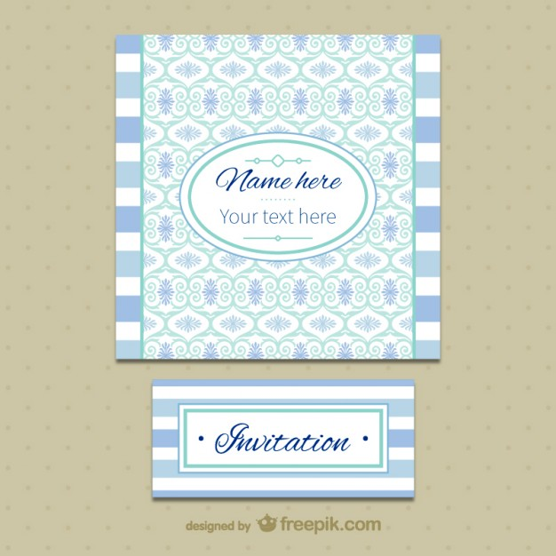 Vintage Invitation Template Free Vector  Freevectors