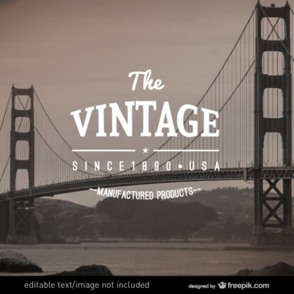 Vintage Label Manufactured Products Free Vector