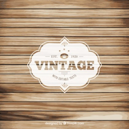 Vintage Label on Wood Floor Free Vector