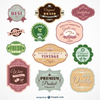 Vintage Labels Pack Free Vector