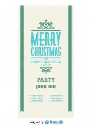 Vintage Merry Christmas Banner Free Vector