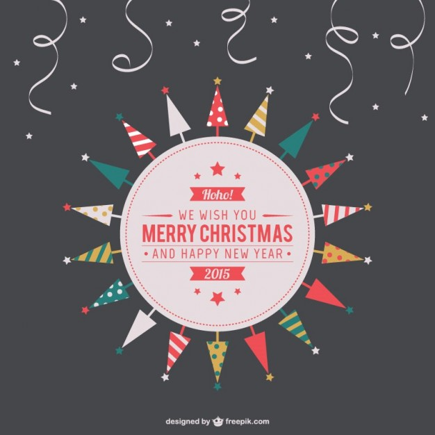 Vintage Merry Christmas Label Free Vector