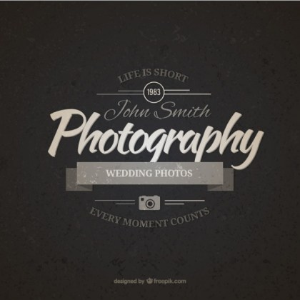 Vintage Photography Badge Free Vector