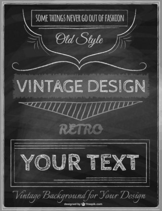 Vintage Poster Template Free Vector