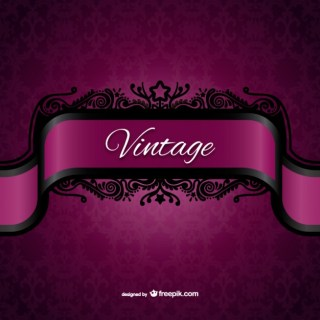 Vintage Purple Label Free Vector