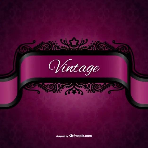 Vintage Purple Label Free Vector