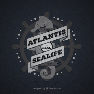 Vintage Sea Life Badge Free Vector
