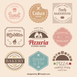Vintage Shop Logos Free Vector