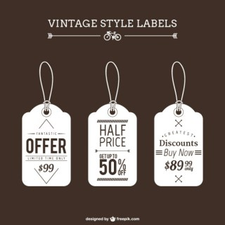 Vintage Shopping Tags Free Vector