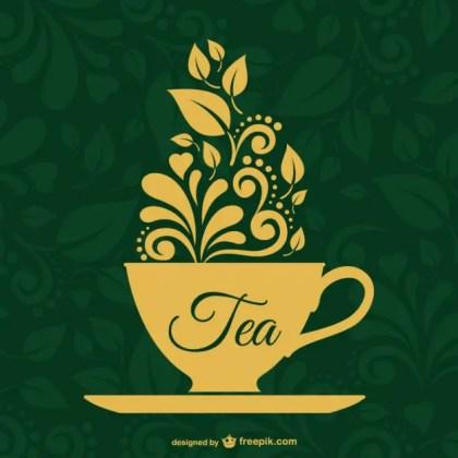Vintage Tea Design Free Vector