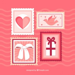 Vintage Valentines Stamp Free Vector
