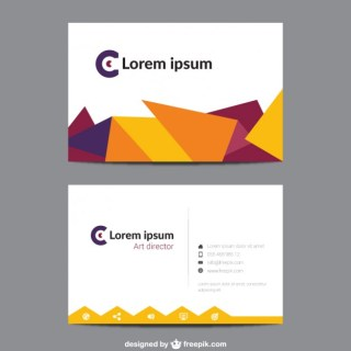 Visit Card with Geometric Shapes Free Vector