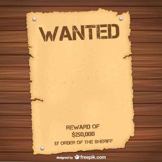 image relating to Free Printable Wanted Poster called Wished-for Poster Template Cost-free Vector