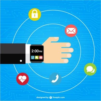 Wearable Technology Free Vector