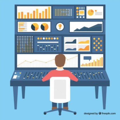 Web Analytics Information Free Vector