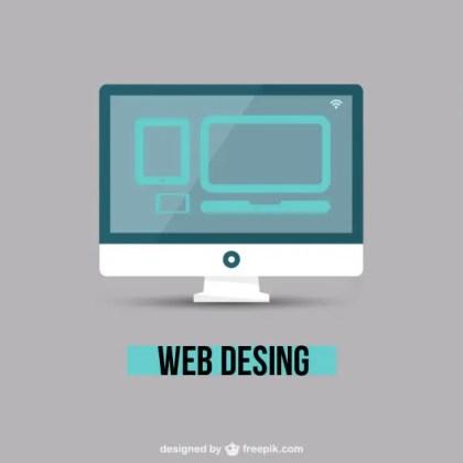 Web Design Minimal Free Vector