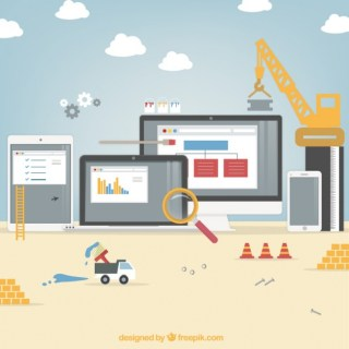 Website Under Construction Free Vector