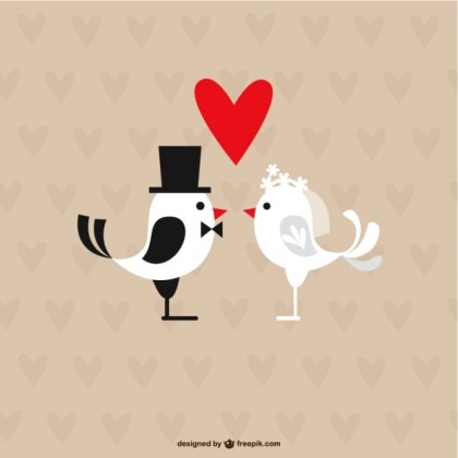 Wedding Birds Free Vector