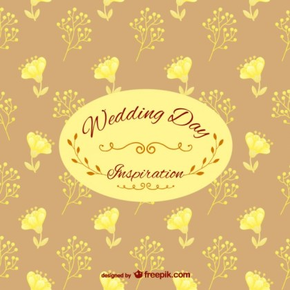 Wedding Day Floral Pattern Free Vector