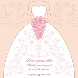 Wedding Dress Lace Design Free Vector