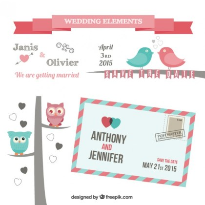 Wedding Elements Free Vector
