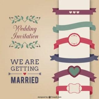 Wedding Invitation Elements Free Vector