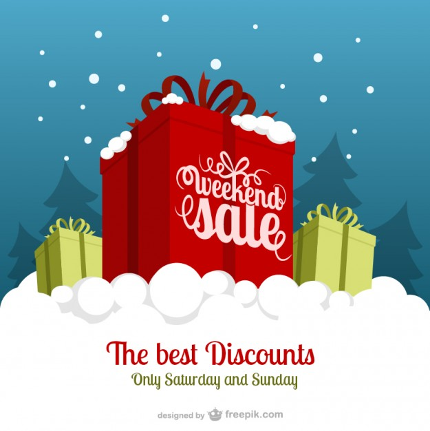Weekend Sale Free Vector