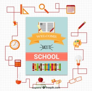 Welcome Back To School! Free Vector