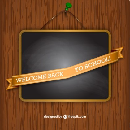 Welcome Back To School Sign Free Vector