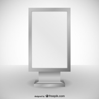 White Billboard Free Vector