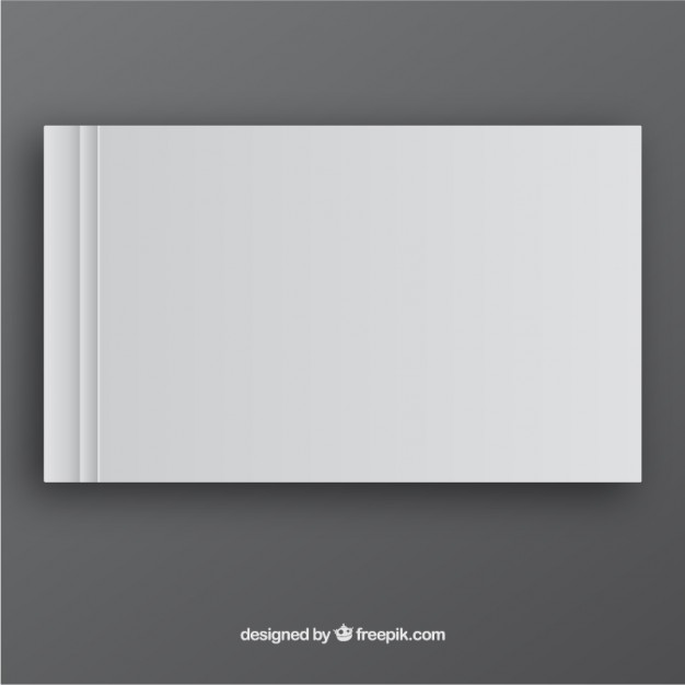 White Book Template in Front Side Free Vector
