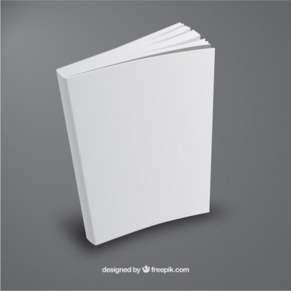 White Book Template in Perspective Free Vector