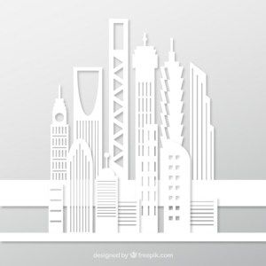 White Buildings Free Vector