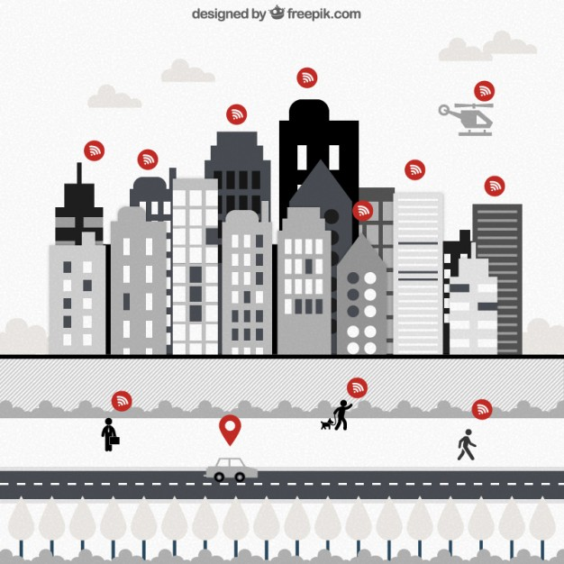 Wifi Users Infographic Free Vector