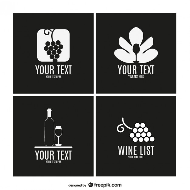Wine Label Template Collection Free Vector