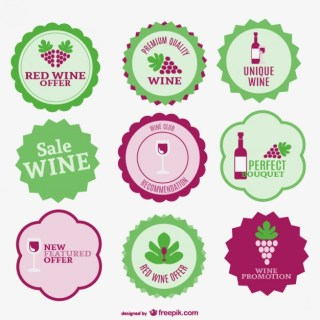 Wine Sale Labels Collection Free Vector