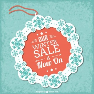 Winter Sale Tag Free Vector